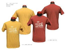 "Ues(ウエス)652116""ICECREAM""Shortsleevet-shirt2021年生産Ues-652116「P」メンズアメカジ男性半袖Tシャツ日本製国産"