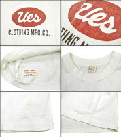 "Ues(ウエス)651848""UESビッグロゴTシャツ""Ues-651848「P」【クリックポスト対応商品】メンズアメカジ男性半袖Tシャツ日本製国産"