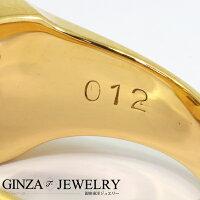 K20YG×Pmコンビイエローゴールドプラチナダイヤモンド0.12ct印台カレッジデザインリング16.5号【新品仕上済】【iw】【ジュエリー】【人気】【】【送料無料】