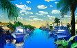 鈴木英人「我が心のマイアミ」-MIAMI MOOD- 2001年 EMグラフ 額付版画作品 国内送料無料 05P13Dec15