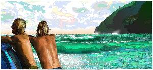 鈴木英人「マカプービーチの波乗り兄弟」-MAKAPU'U BEACH BROTHERS- 20…
