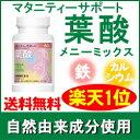 葉酸 サプリメント 葉酸メニーミックス60粒(約1ヶ月分)無...