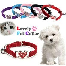 猫,首輪,キラキラ,ペット用首輪,かわいい,可愛い,おしゃれ,スワロフスキー,ラインストーン,小型犬,犬,鈴付き