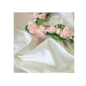 撮影用布バックサテン1.5×3m光沢感を抑えたマットサテン布単色3mパールホワイト