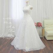 ウェディングドレスAラインドレス【送料無料】7号〜9号結婚式や二次会海外挙式にお勧めしますgcd8882