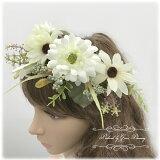 ボタニカルな花冠ウェディングや夏フェスにどうぞ【宅配便送料無料】大きめ花の花かんむり