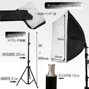人物撮影・商品撮影に最適背景スタンドST-1-Lと撮影機材セット-1