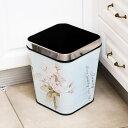ゴミ箱 おしゃれ 分別 ふた付き スリム キッチン ペダル センサー ダストボックス 北欧 花柄 薔薇雑貨 ゴミ箱 ふた付き 円形 角型 四角 ラウンド型 スクエア型/[aak44b]