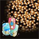 【ゆうパケット対象商品】 美しい輝きと形状!ぷっくりドーム型スタッズネイルの必需品高品質メタルスタッズ ゴールデンゴールド 50粒 2