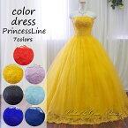 刺繍が華やかカラードレス・演奏会ドレス