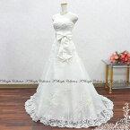 ウエディングドレスウェディングドレスAラインロングトレーン二次会結婚式花嫁衣裳披露宴フォトウエディングレストランウェディング5号7号9号11号13号SサイズMサイズオフホワイト