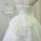 ヘッドドレス・髪飾り・リボン・ホワイト・ドレスアクセサリー