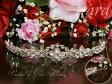 【B品】ウェディングティアラ≪シルバー/フラワーモチーフ≫結婚式花嫁髪飾りブライダルアクセサリーウエディング王冠お姫様コスパーティー海外挙式二次会披露宴フォト撮影(kk1024-t)