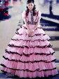 【サイズオーダー】【JLHシリーズ】カラードレス 5〜25号 高級お姫様ドレス ピンク プリンセスライン