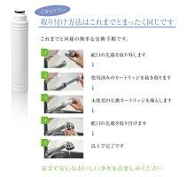 タカギの浄水器に使用できる、取付け互換性のある交換用カートリッジ