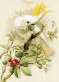 クロスステッチ刺繍キットRIOLIS白いオカメインコ