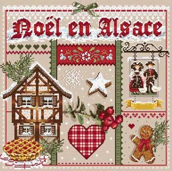 メール便送料無料 フランスのクロスステッチ 刺繍図案 アルザスのクリスマス Noel en Alsace マダム ラ フェ Madame La Fee