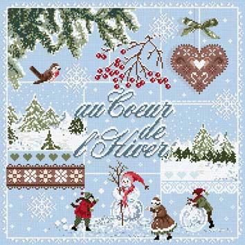 メール便送料無料 フランスのクロスステッチ 刺繍図案 冬のハート Au Coeur de l'Hiver マダム ラ フェ Madame La Fee クリスマス
