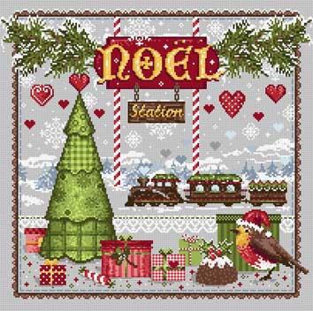 メール便送料無料 フランスのクロスステッチ 刺繍図案 クリスマスステーション Noel Station マダム ラ フェ Madame La Fee