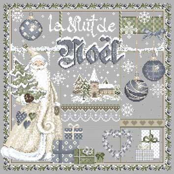 メール便送料無料 フランスのクロスステッチ 刺繍図案 クリスマスナイト La Nuit de Noel マダム ラ フェ Madame La Fee