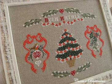 イタリアのクロスステッチ 刺繍図案 Cuore e Batticuore クオーレ エ バッティクオーレ メリークリスマス BUON NATALE クリスマス