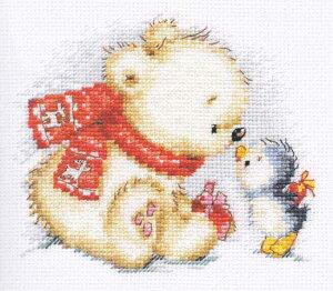 アリサ ALISA クロスステッチ 刺繍キット 大切なあなたへ(シロクマ・ペンギン・クリスマス) クロスステッチキット クロスステッチ ししゅう 刺繍