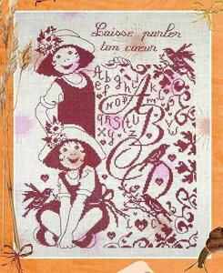 クロスステッチ刺繍図案 Isabelle HV イザベルHVLaisse parler ton coeur 子ども