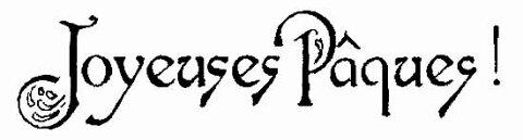 ラバースタンプ イースターおめでとう(フランス語)Joyeuses Pâques アンマウント 輸入スタンプ アートスタンプ ゴム印・スタンプ