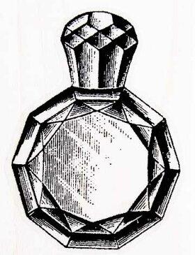 ラバースタンプ 香水瓶 木の持ち手 ウッドマウント 輸入スタンプ アートスタンプ ゴム印・スタンプ