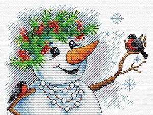 MPスタジオ/MP Studia クロスステッチ刺繍キット 雪の物語 14ct クリスマス クロスステッチキット ししゅう 刺繍