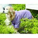 ペットウェア 大型犬用 【レインコート チェック柄】 雨の日も散歩が楽しくなる激かわアイテム♪ グリーン・ピンクの2色 EH