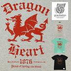 【メール便送料無料】 gravitation/Dragon Heart Tシャツ/全3色【あす楽】【auktn】