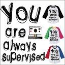 【メール便送料無料】 おまえは常に監視されている 3/4ラグランベースボールTシャツ!/全3色【auktn】