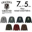 GRACIOUS GROUND エンブレム裏起毛トレーナー/全7色&5サイズ【auktn】