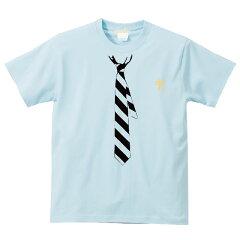 5.6ozだまし絵ネクタイTシャツ半袖|細めレジメンタルタイトロンプルイユ(騙し絵)|XS~Lサイズ、メンズ・レディース、お揃い・ペアルック◎|GRACIOUSGROUND|【メール便、レターパック対応】【auktn】05P23Sep15