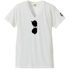 だまし絵サングラスVネック半袖Tシャツ|森田さんのサングラストロンプルイユ(騙し絵)|4.4ozトライブレンドS~XLサイズ、メンズ・レディース、お揃い・ペアルック◎|【メール便、レターパック対応】【auktn】05P23Sep15