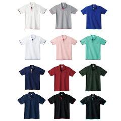 衿、袖口、裾から見えるカラーがポイントの重ね着風★ベーシックレイヤードポロシャツ!全12色×6サイズ【楽ギフ_包装】【auktn】【RCP】