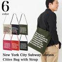 New York City Subway Station 14.3オンス キャンバス 2WAY ショルダーバッグ/全6色【メール便、レターパック対応】【auktn】