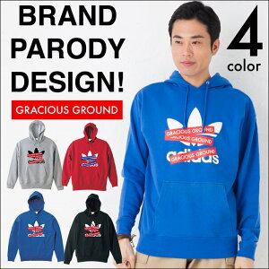 レディース パーカー ブランドパロディデザイン as×GRACIOUS ボックスックスロゴ メンズファッション・レディースファッション