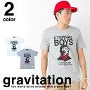 【メール便 送料無料】フットボール Tシャツ メンズ レディース お揃い ペアルック 半袖 父の日 ギフト サッカー フットボール gravitation ( グラビテーション ) エターナルボーイズ Tシャツ 5.0オンス スタイリッシュ