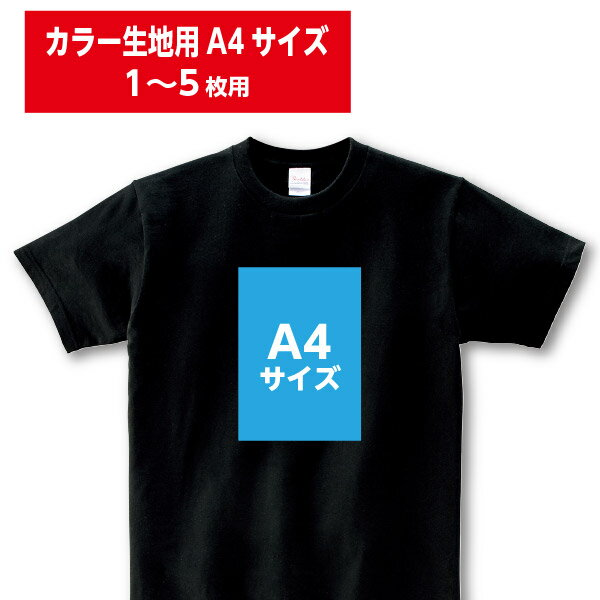 【学園祭・チームウェアにおすすめ!】オリジナルウェアプリント加工費/カラー生地用A4サイズ/1〜5枚