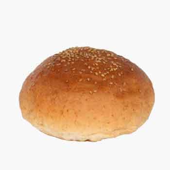 ハンバーガー用グラハムバンズ■192個■《光沢、ゴマ付、ビッグ12cm》国産小麦・無添加【冷凍出荷】