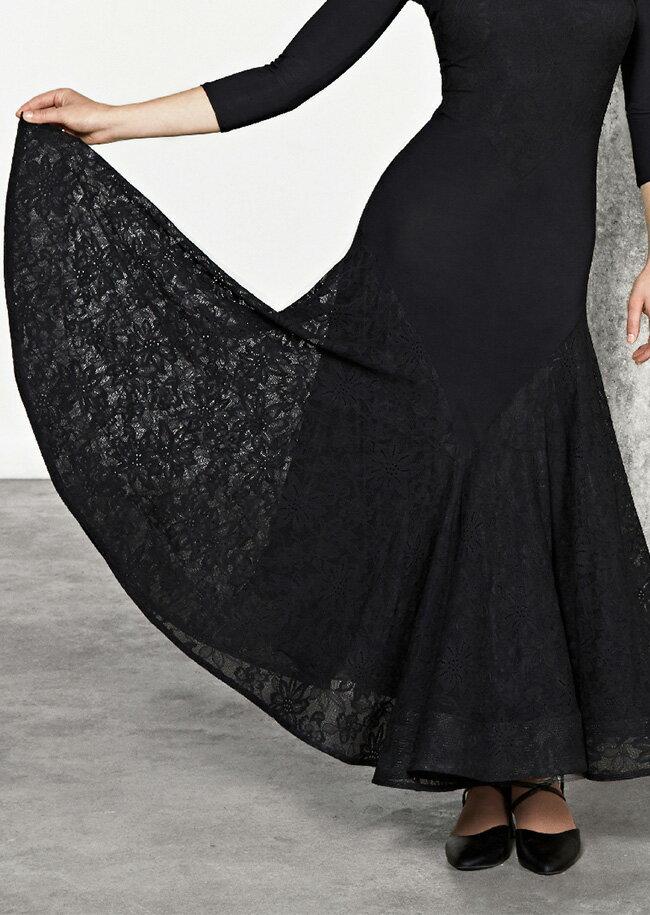 社交ダンス 練習着 モダンドレス Chrisanne Clover クリスアンクローバー エブリン・ボールルームドレス(2018年LBDコレクション) モダン ロングドレス レディース 女性 XS-XL 黒 限定品 海外
