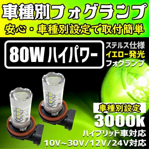ライト・ランプ, フォグランプ・デイランプ 612OFF D:5 CVW H19.01 H8H11H16 LED 80W 3000K
