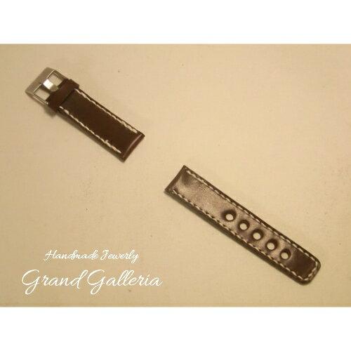 GrandGalleriaグランドガレリア 栃木レザー社製サドルレザー牛革腕時計バンド腕時計ベルトバンドのみハンドメイド手