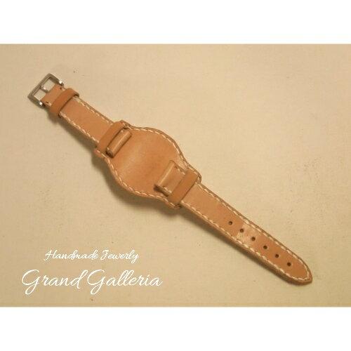 GrandGalleriaグランドガレリア 栃木レザー社製サドルレザー牛革台座付き腕時計バンド腕時計ベルトバンドのみハンド