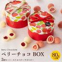 【2箱セット】ベリーチョコ 80g ボックス( ストロベリー