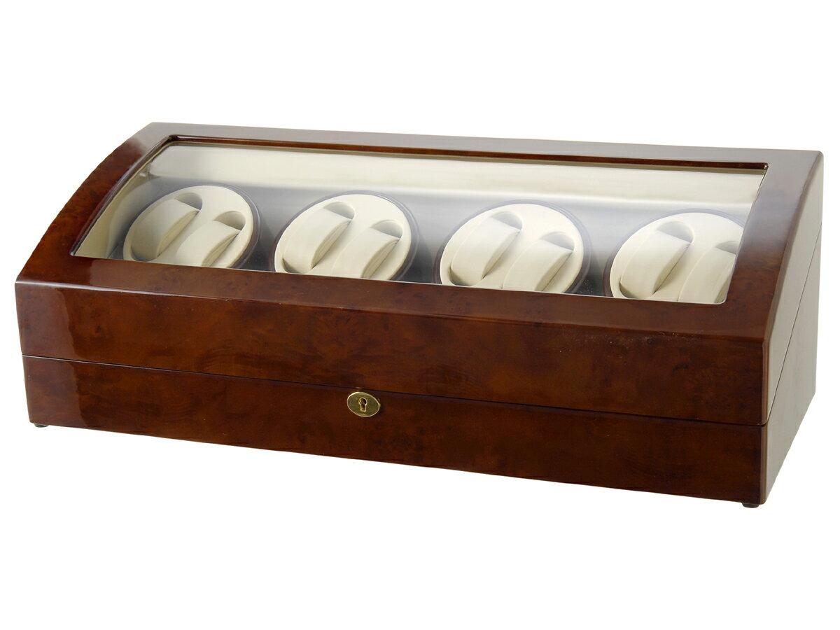 [送料無料!] ロイヤルハウゼン Royal hausen ワインディングマシーン [GC03-Q31] 木目調 高級ワインダー 腕時計  8本巻き 9本収納 [ウォッチワインダー][自動巻き上げ機]:GRANS