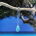 【ビーチグラスのシンプルネックレス】ビーチグラス シーグラス アクセサリー ネックレス シンプル フォーマル チェーン ギフト プレゼント 贈り物