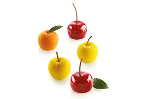 mela,ciliegia&pesca30ccメラシリジア&ペスカ4cm(miniリンゴサクランボ)【sf278】シリコン型silikomartシリコマート
